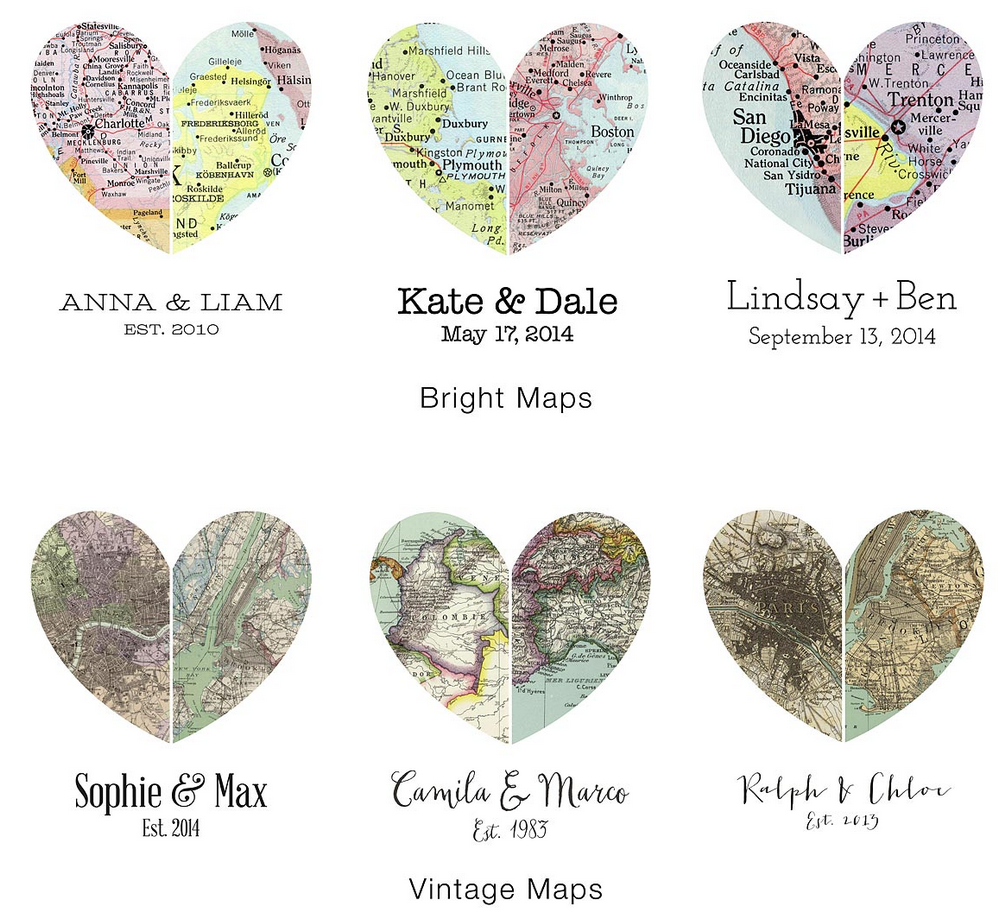 HEART SHAPED WORLD Love Laced Maps from Melissa Schwall STILL LIFE